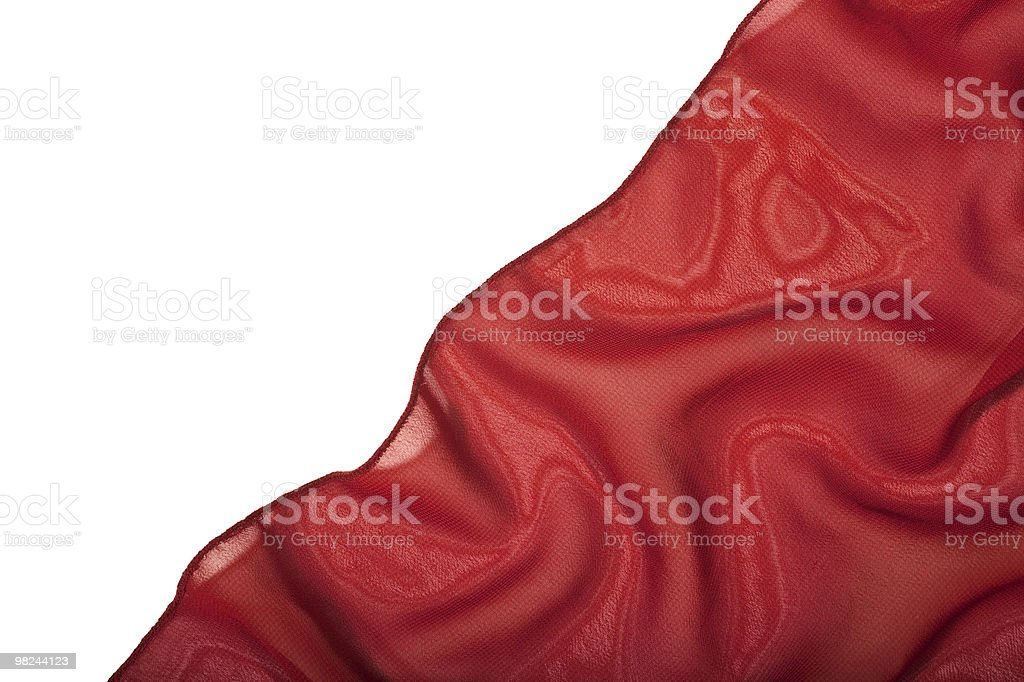 red silk isolated on a white background royalty-free stock photo