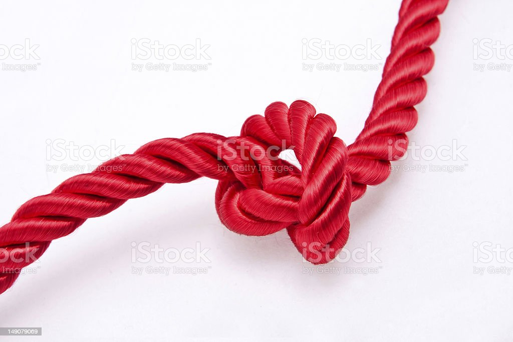 Red silk knot royalty-free stock photo