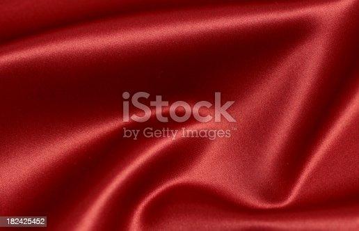 istock Red silk 182425452