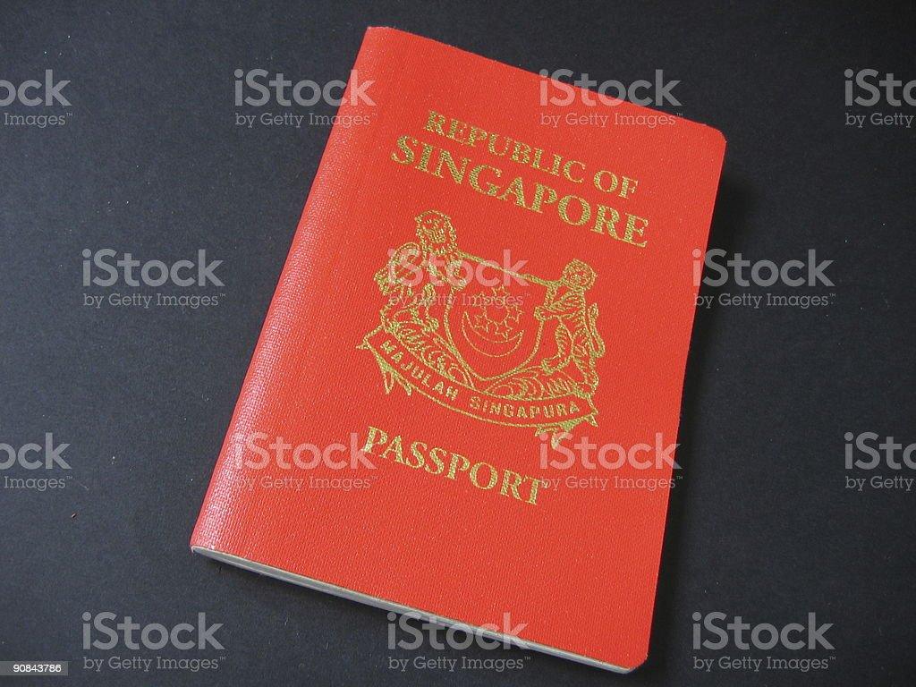 Red Singapore passport royalty-free stock photo