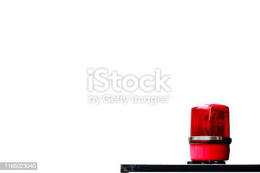 174913699 istock photo Red siren isolated on white background. This had clipping path. 1165023040