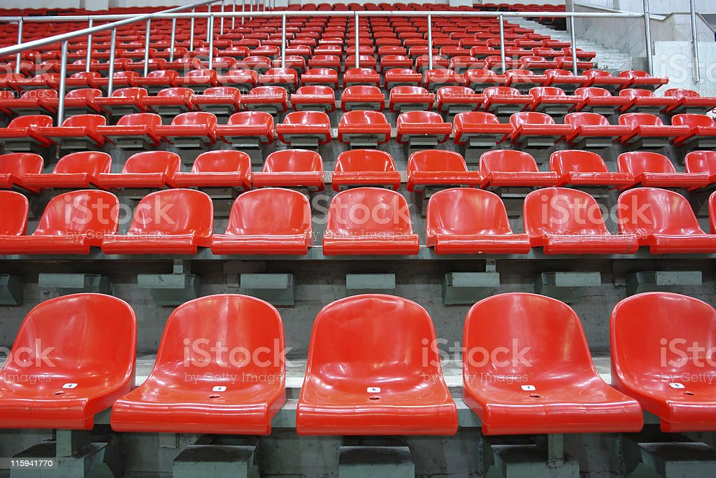 Red sittings royalty-free stock photo