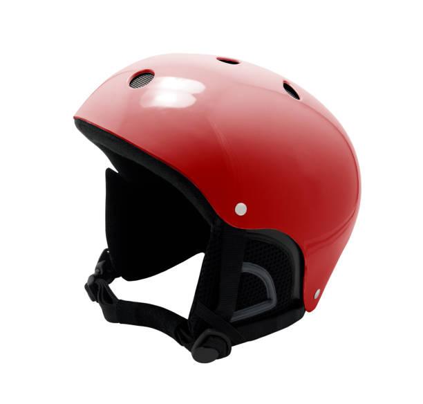 Red ski helmet - foto stock