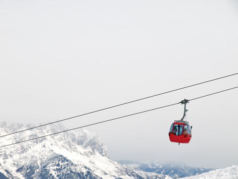 red ski lift