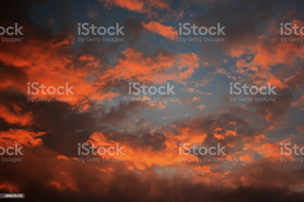 Red Skyscape royalty-free stock photo