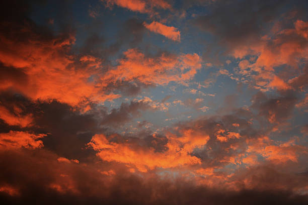 Red Skyscape stock photo