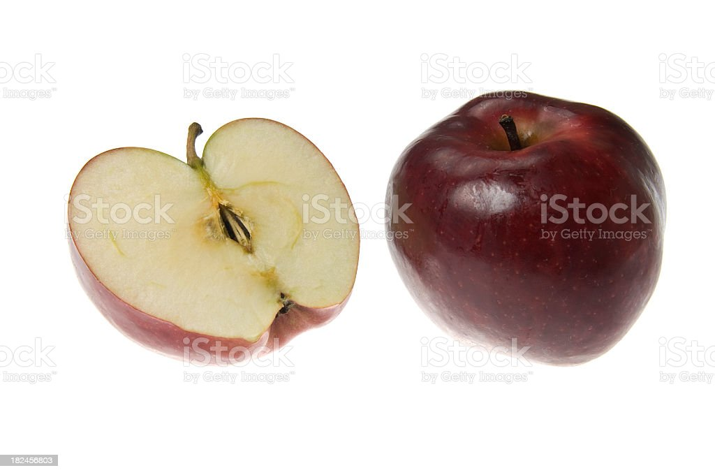 Red sliced apple royalty-free stock photo