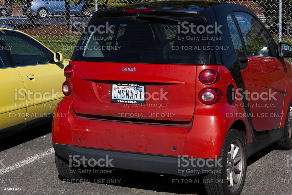 Red Smart Car stock photo