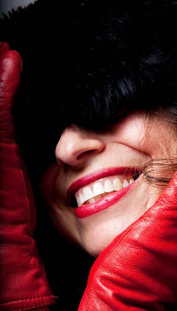 Red Smile stock photo