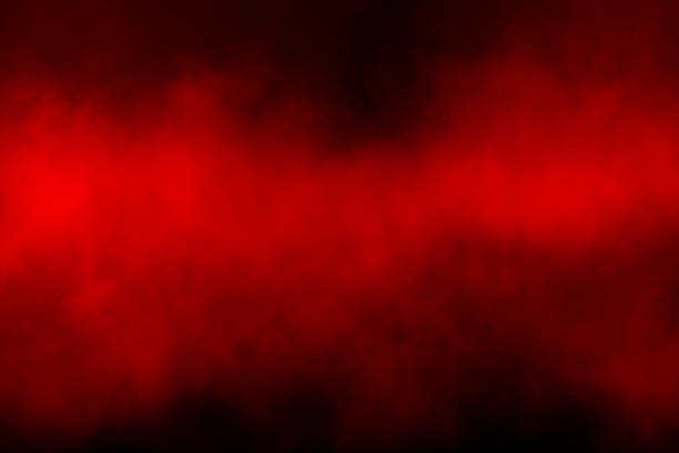 Red smoke background Red smoke over black background smoke physical structure stock pictures, royalty-free photos & images