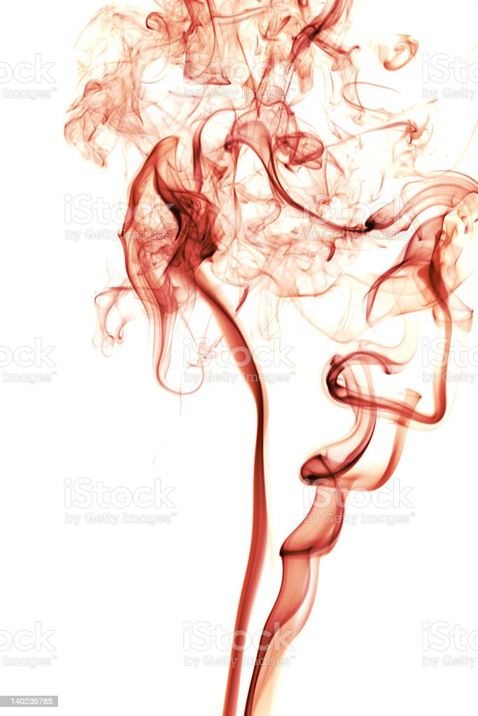 Red Smoke stock photo
