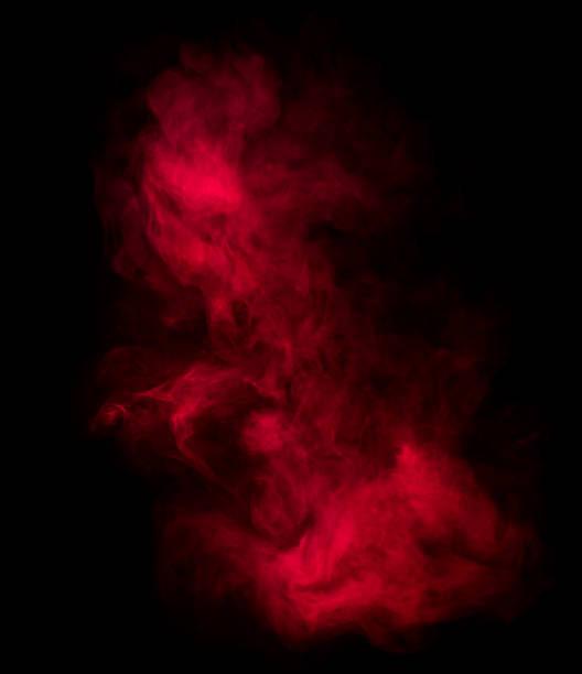 red smoke shapes stock photo