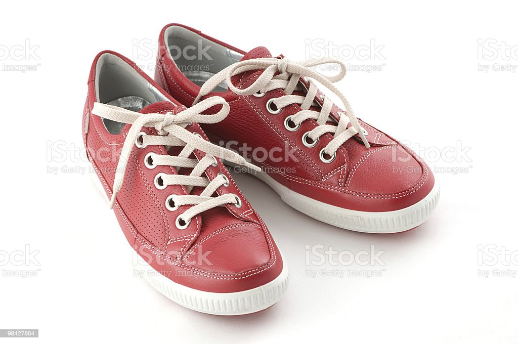 red sneakers royalty-free stock photo