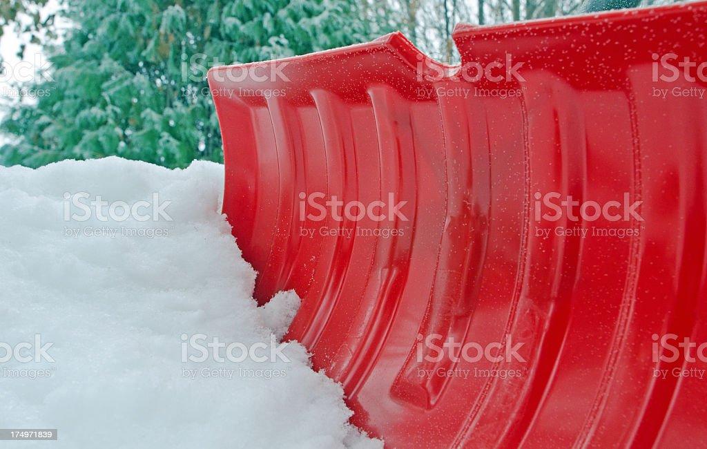 Red Snow Shovel close-up royalty-free stock photo