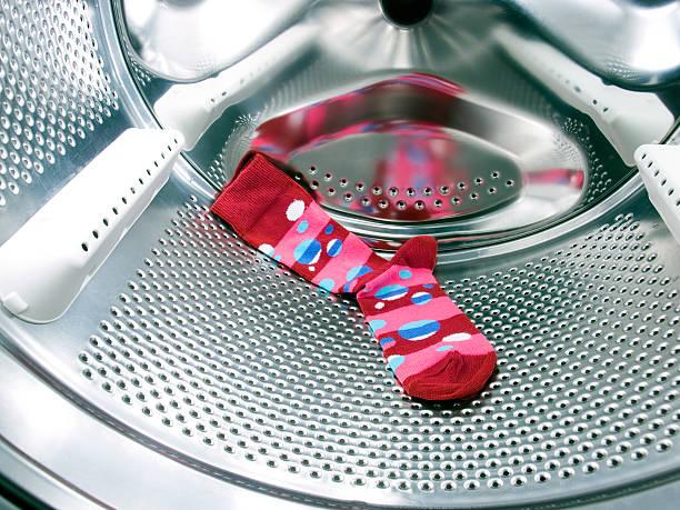 Red sock stock photo