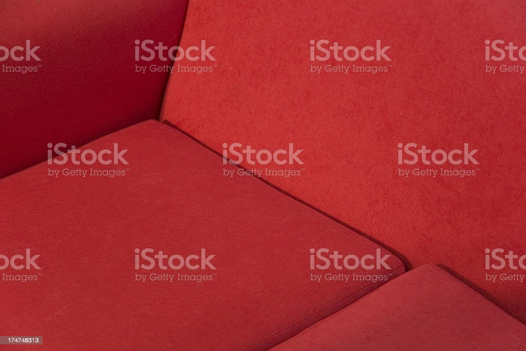 Red sofa detail royalty-free stock photo