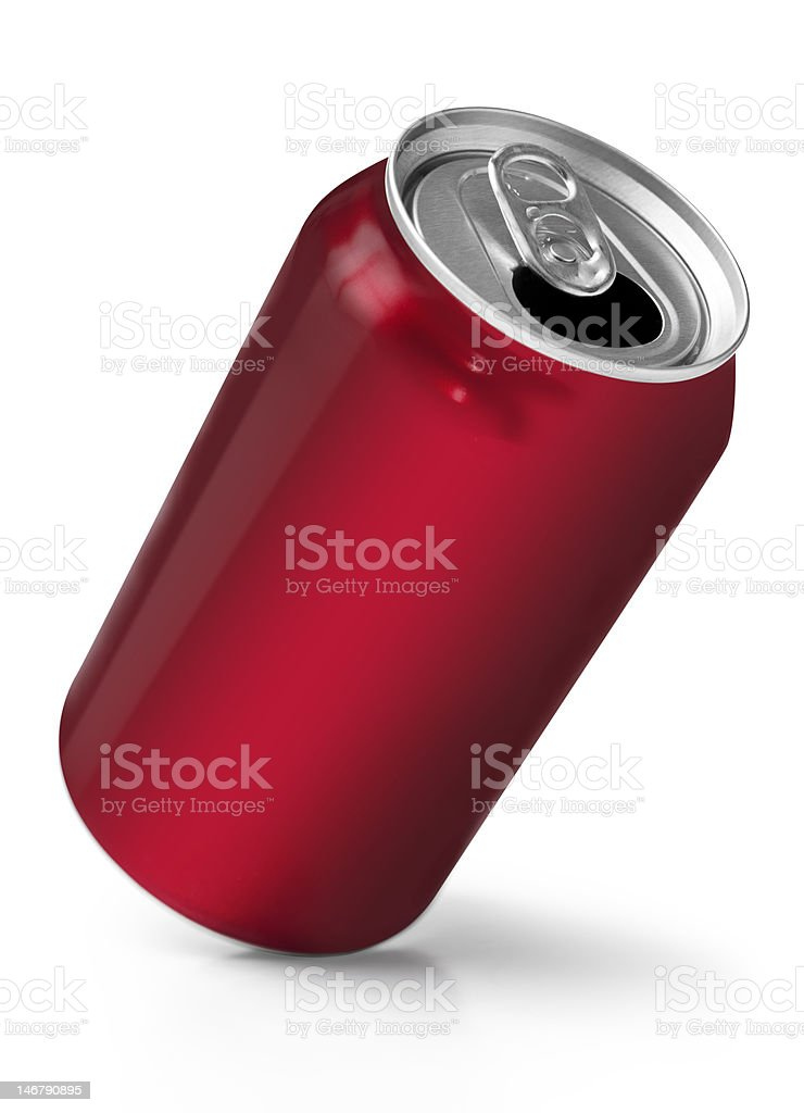 Red soft drink can royalty-free stock photo