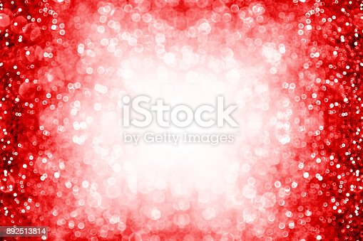 istock Red sparkle background border for birthday, New Year, Christmas or Valentine frame 892513814