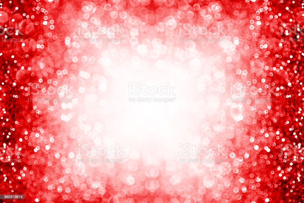 Red sparkle background border for birthday, New Year, Christmas or Valentine frame stock photo