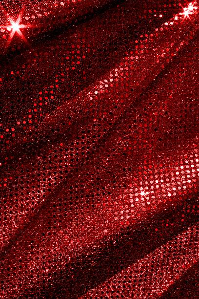Red Sparkle Fabric Background stock photo
