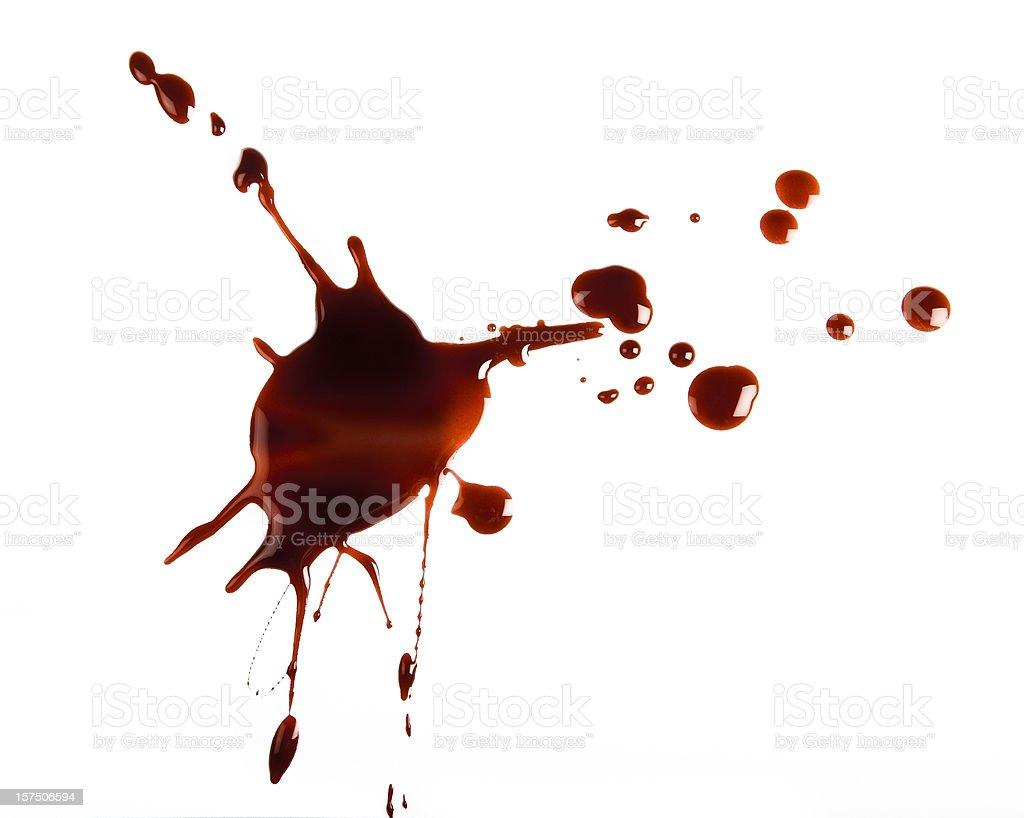 Rosso spatter su sfondo bianco - foto stock