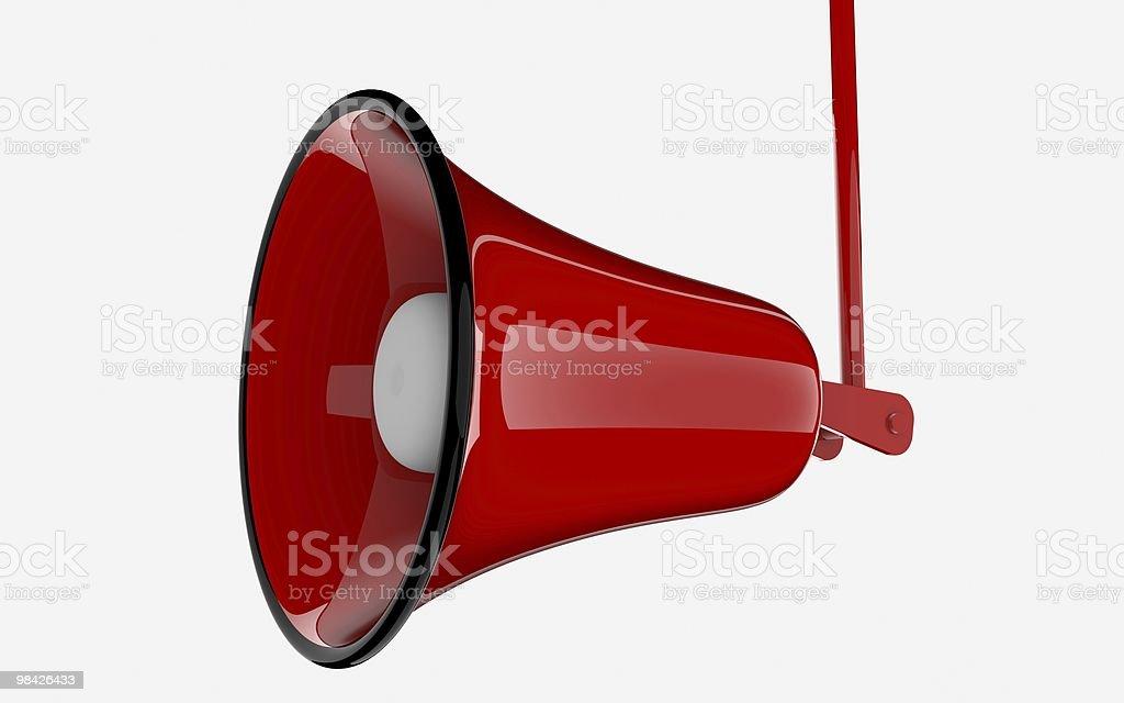 Red speaker megaphone royalty-free stock photo