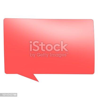 1125351850 istock photo Red speech bubble 1014242788