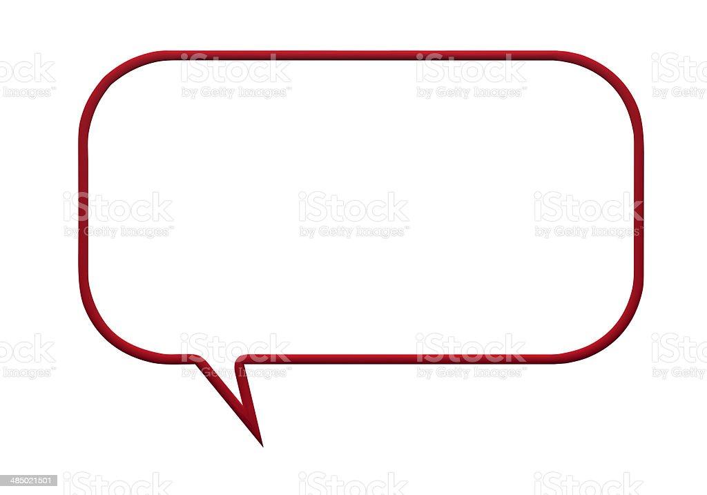 red speech bubble stock photo