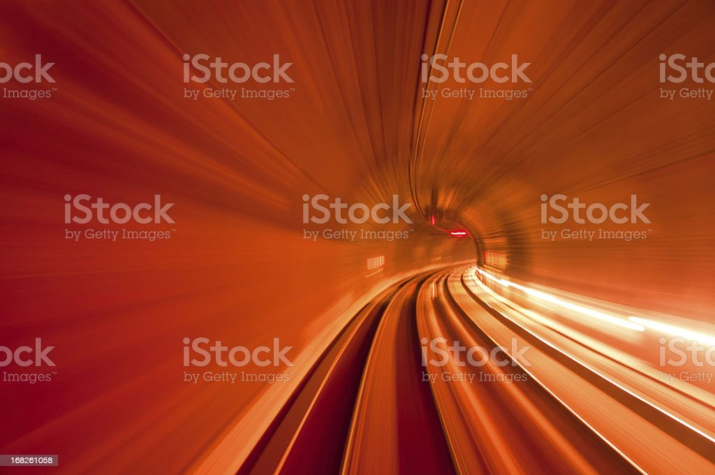 red speed tunnel stock photo