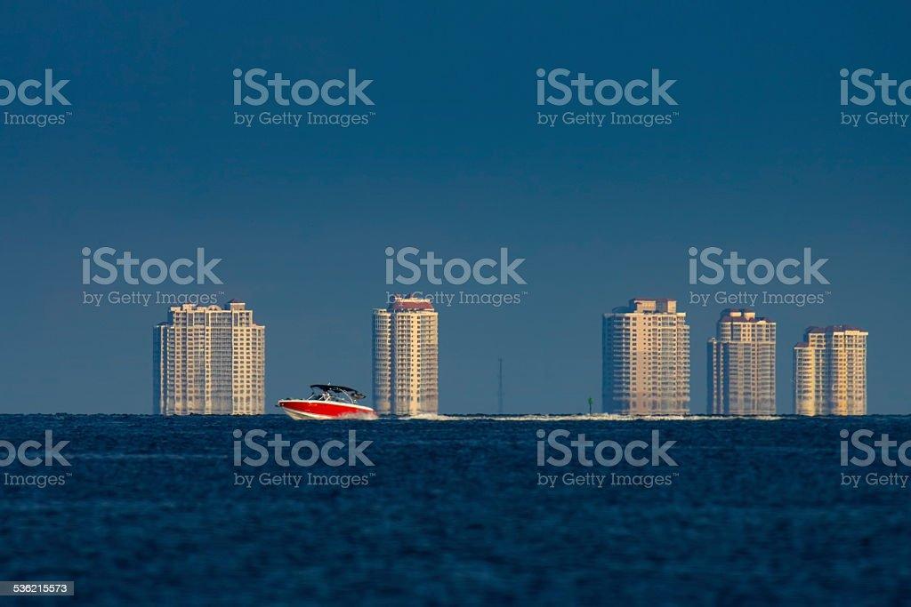 Red Speedboat stock photo