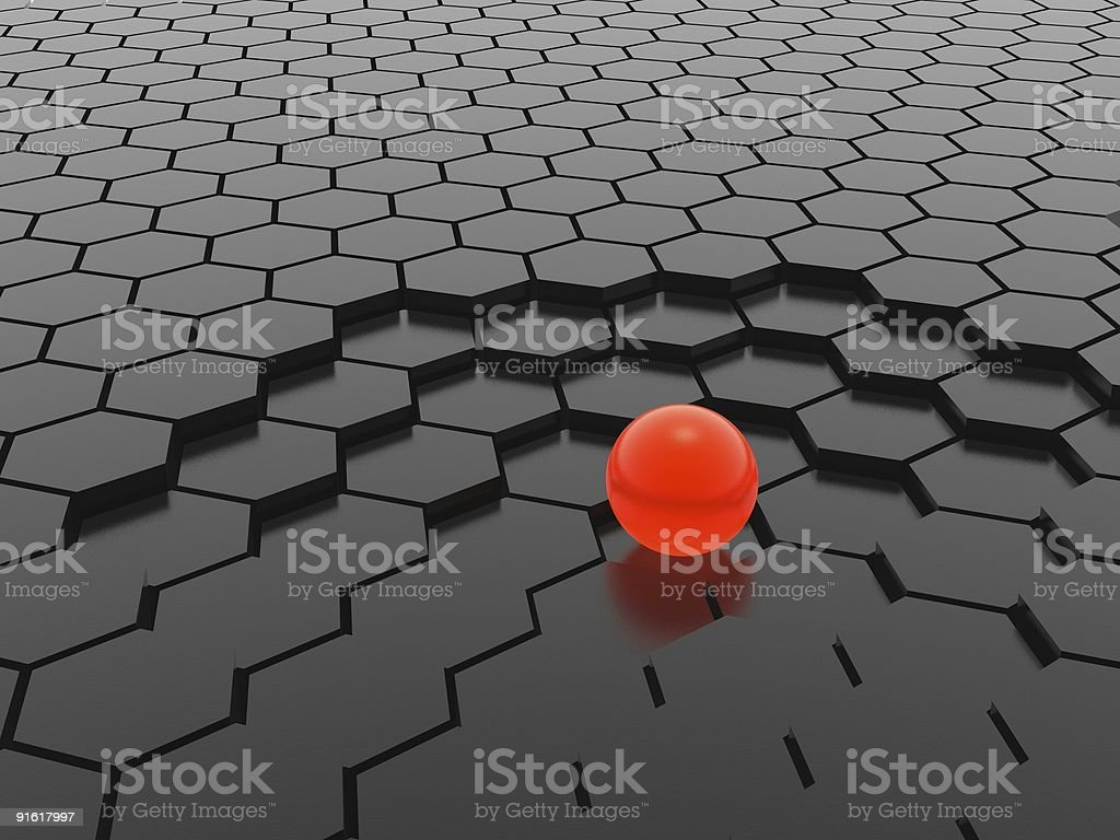 red sphere royalty-free stock photo