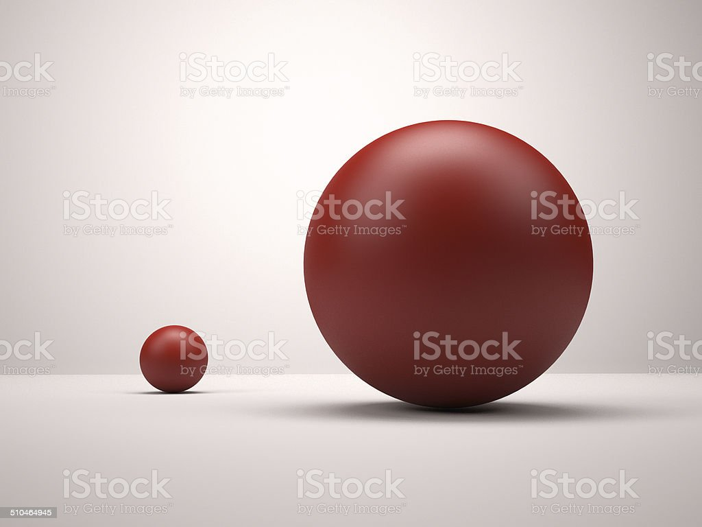 Red spheres stock photo