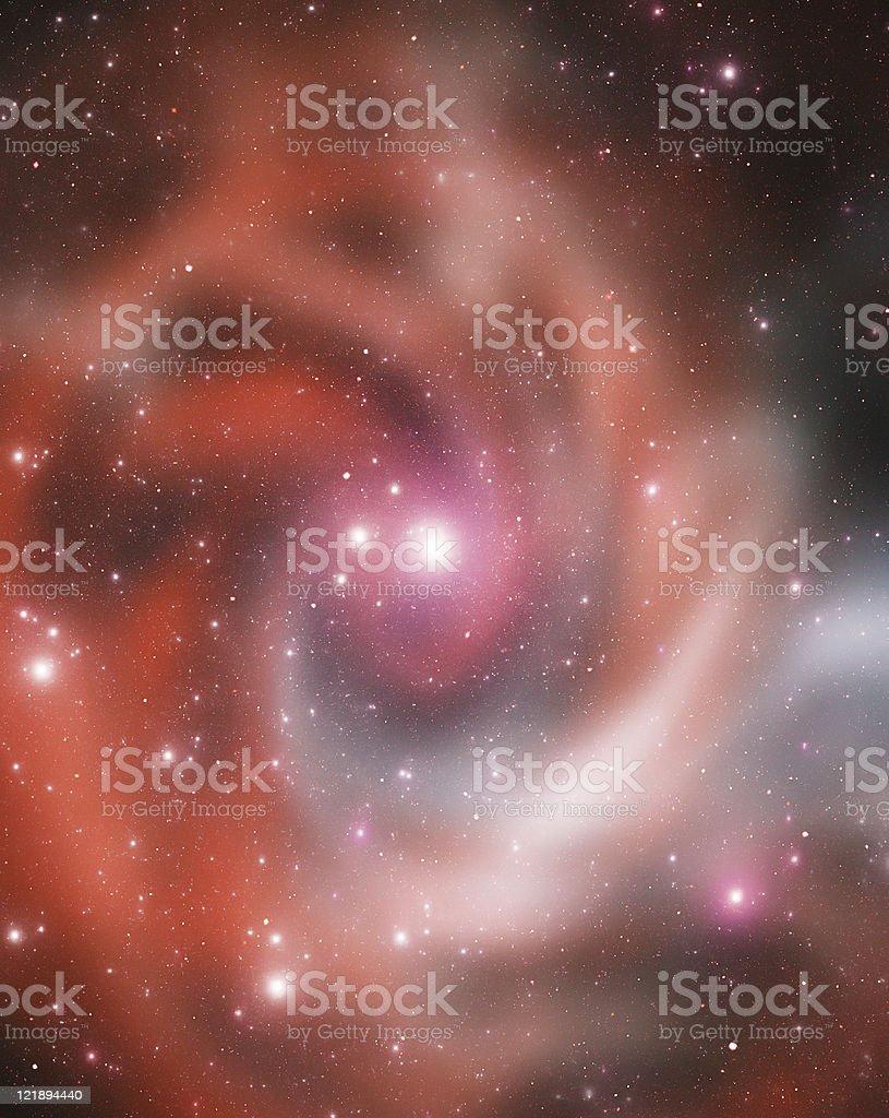 Red spiral nebula stock photo