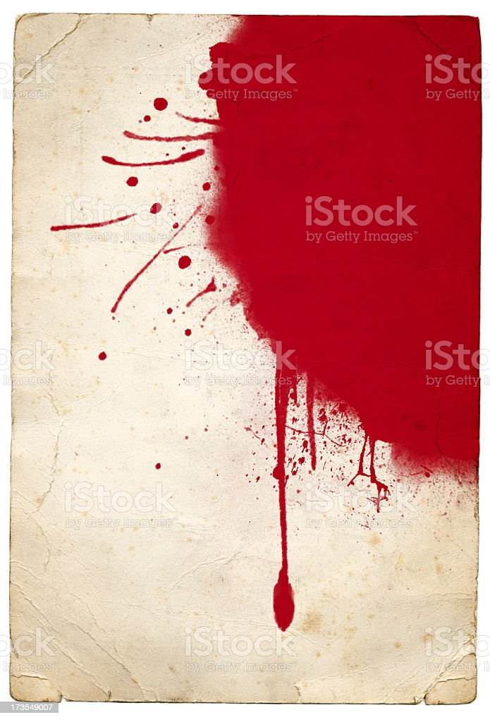 Red splat royalty-free stock photo