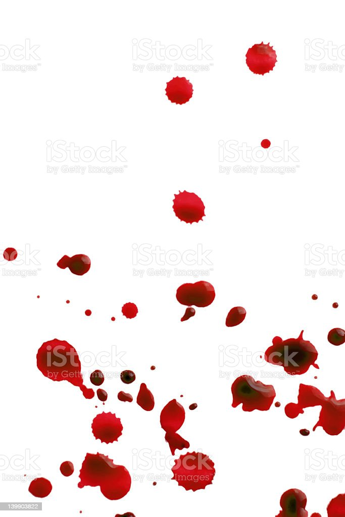 red splattered royalty-free stock photo