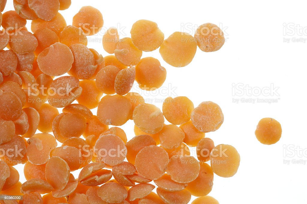 Red split lentils royalty-free stock photo