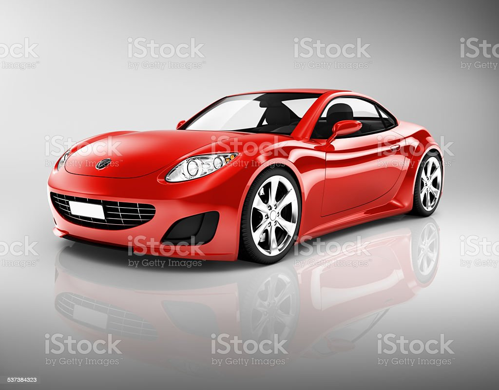 Red Sport Car stock photo