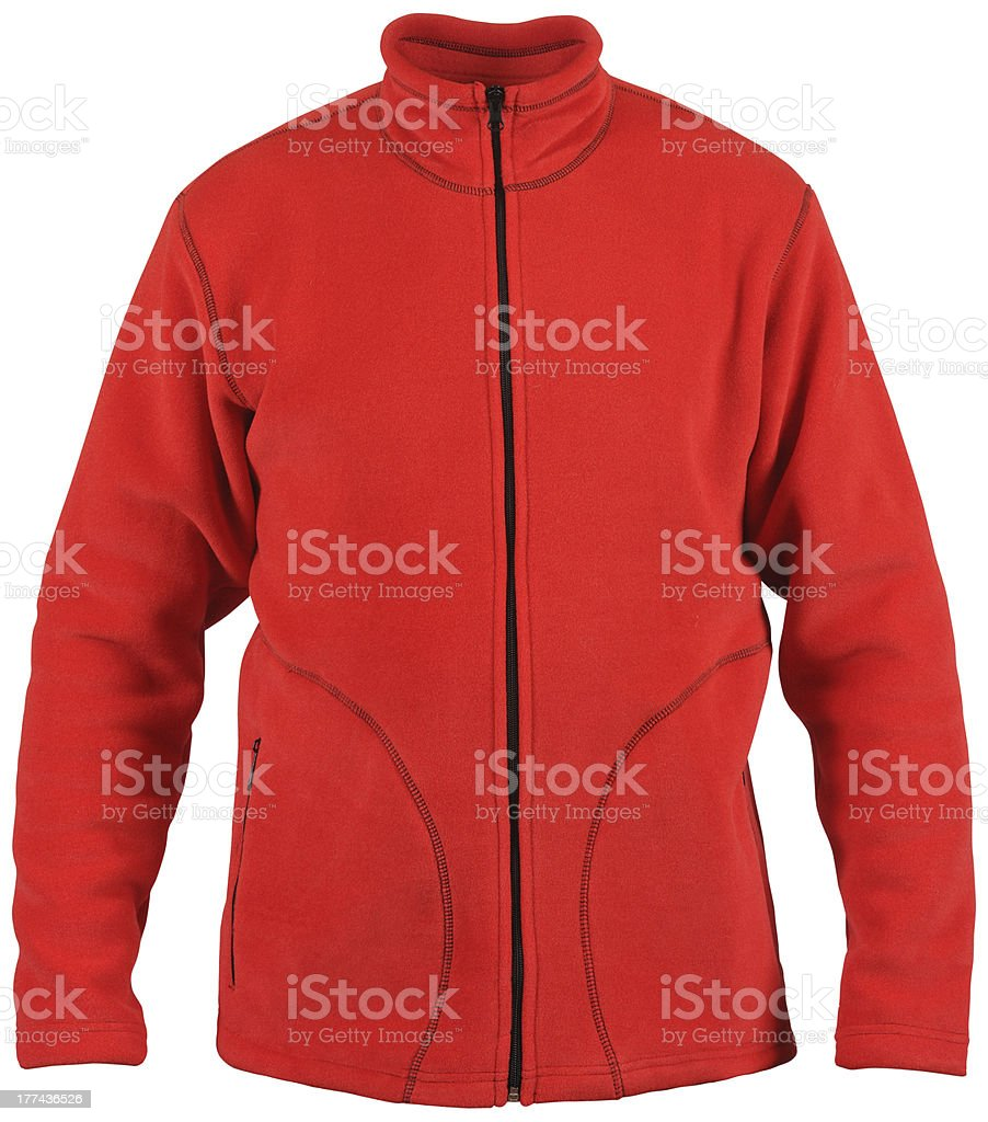 red sport jacket royalty-free stock photo