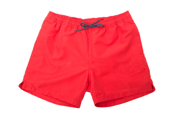 Red Sport Shorts isolated stock photo