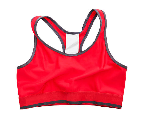 Red Sports Bra isolated stock photo