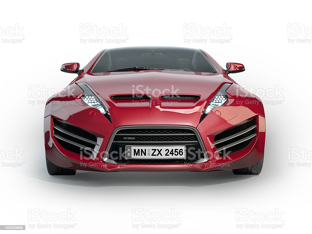 Red sports car isolated on a white background stock photo