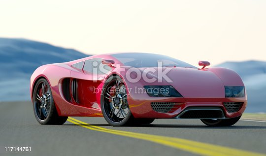istock Red Sports Car 117144761