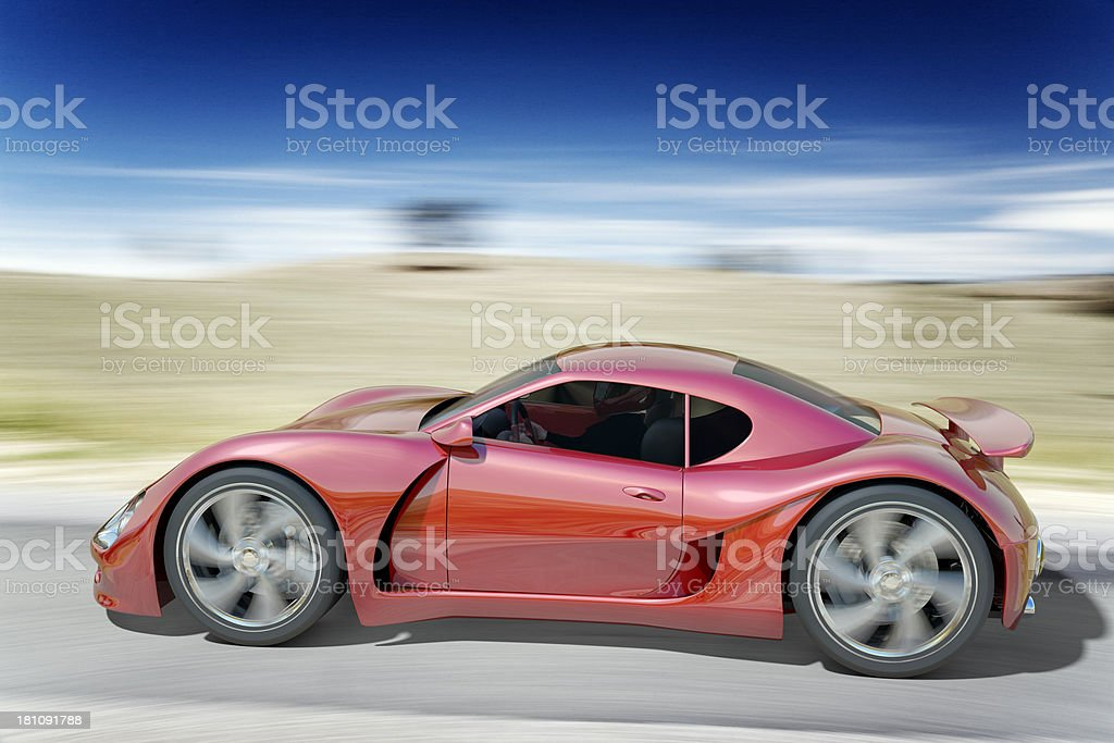 Red Sports Car royalty-free stock photo