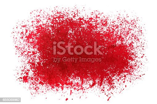 692319500 istock photo Red sprayed stain 655069962