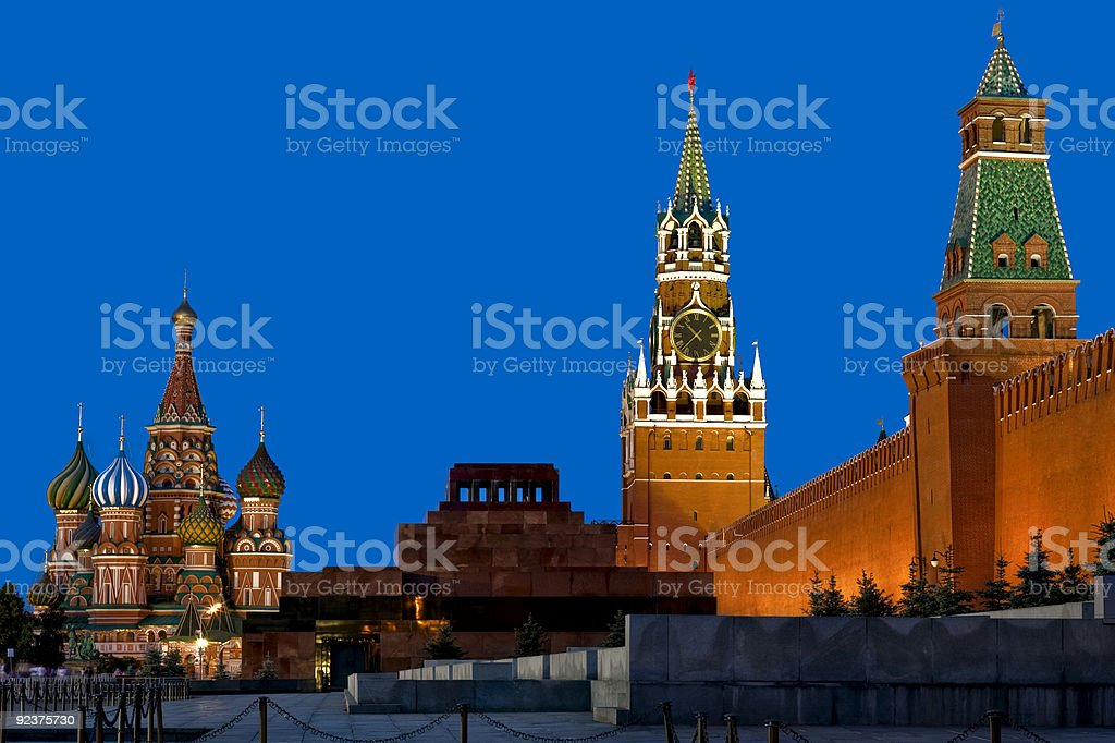 Red Square in Evening royalty-free stock photo