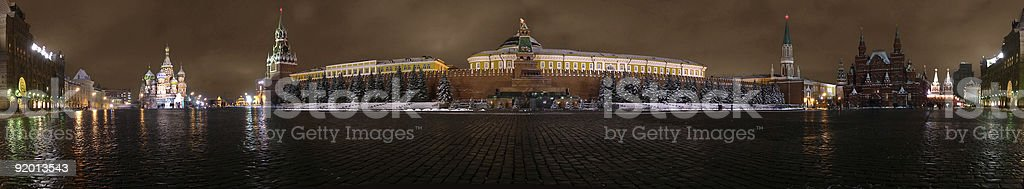 red square kremlin moscow evening stock photo