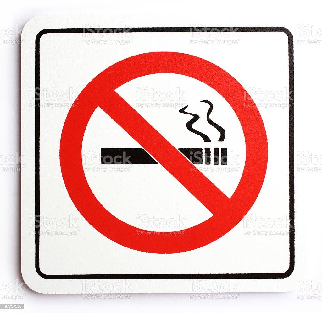Red square No Smoking Warning sign royalty-free stock photo