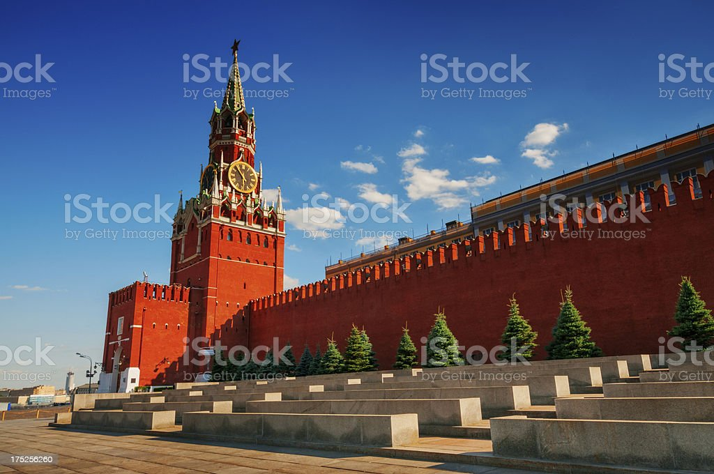 Red Square with Kremlin stock photo