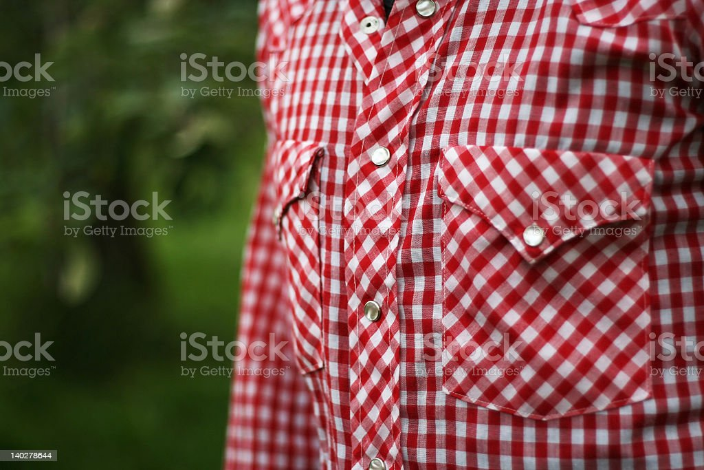 Red squares shirt stock photo