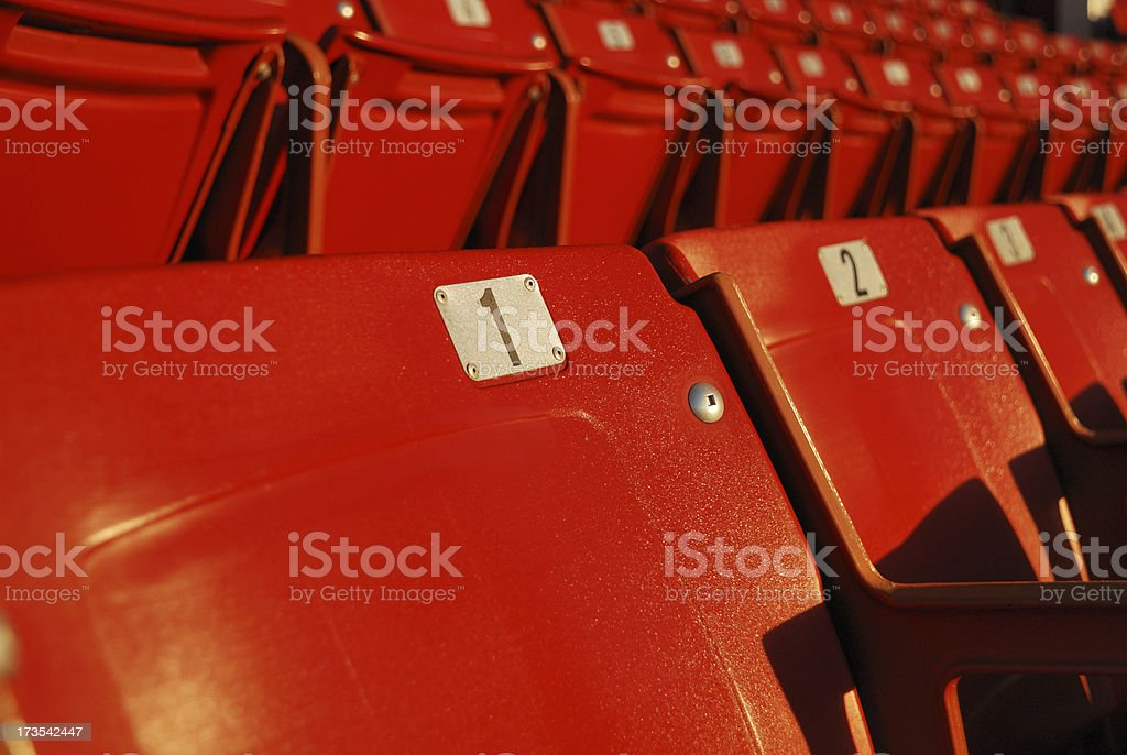 Red Stadium Seats royalty-free stock photo